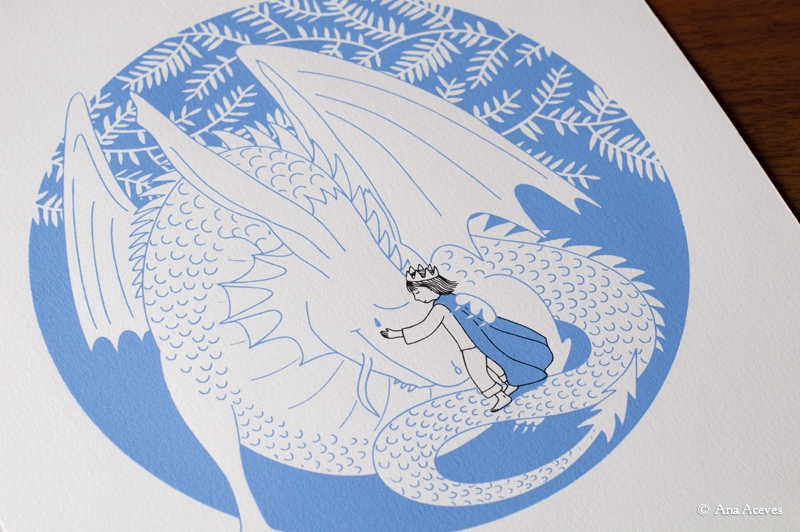 """dragons also cry"", limited edition screenprint"